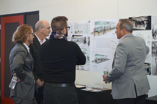 AGI Design Competition Judges Deliberating