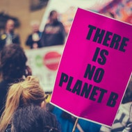 "Climate activism ""There is no planet B"""