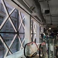 Interior view of Puma facade