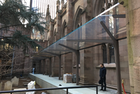 Figure 10 View of Trinity Church glass canopy