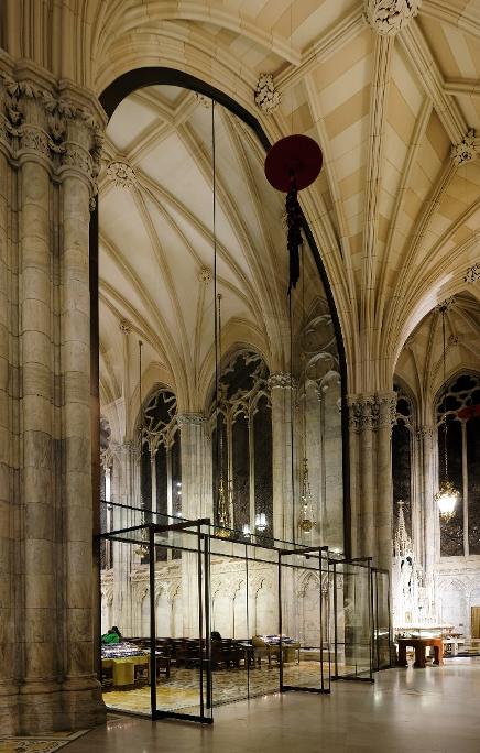 Figure 2 Vestibule of glass wall