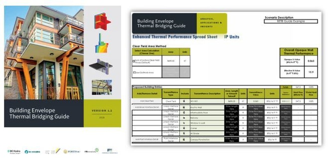 Building envelope thermal bridging guide cover and table