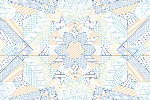 Kaleidoscopic graphic pattern