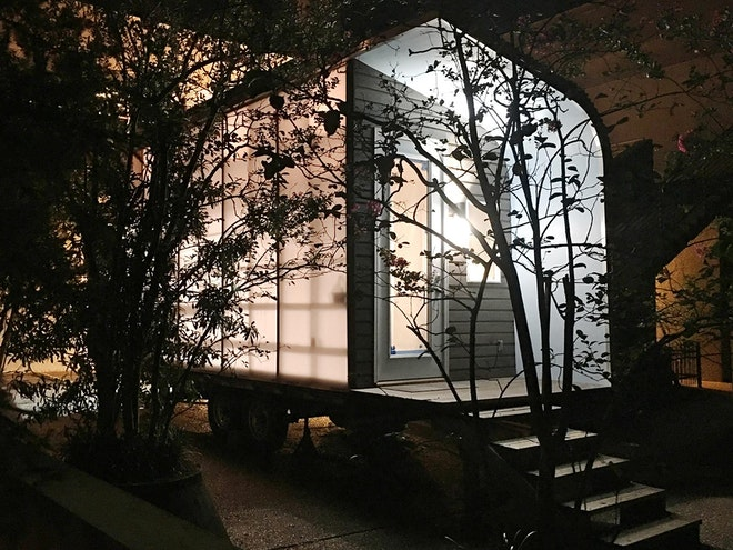 MODESThouse nighttime exterior