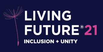 Living Future '21 Inclusion + Unity Logo